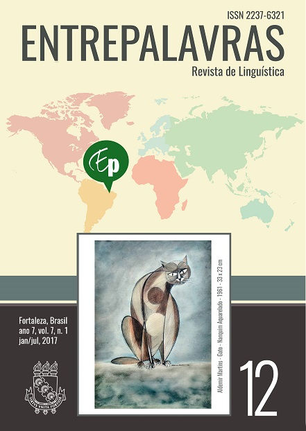 Capa da edição 7 da revista Entrepalavras